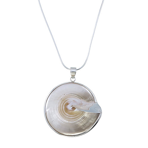 Mother of Pearl Silver Framed Pendant