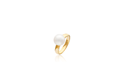 18K Gold White South Sea Pearl Ring