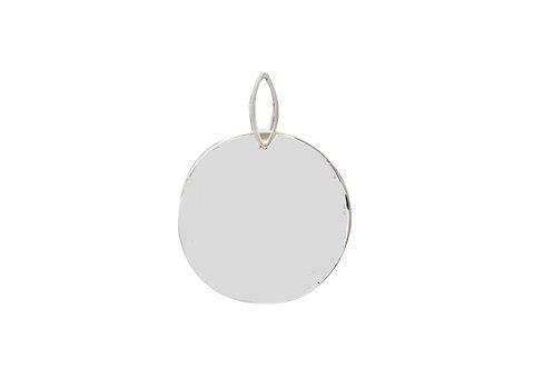 Mexican Silver Disc Pendant