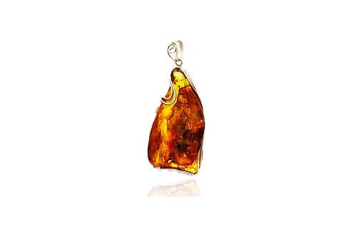 Sterling Silver Natural Baltic Sea Amber Pendant