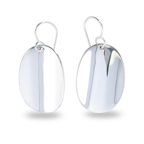 Oval Concaved Earrings
