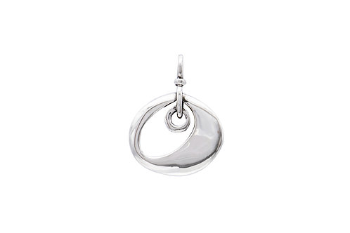 Mexican Sterling Silver Open Oval Pendant