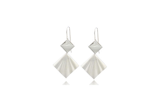 Sterling Silver Squarre With Shell Earrings