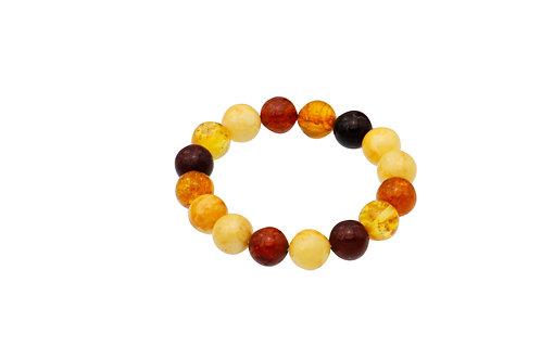 Natural Amber Ball Bracelet