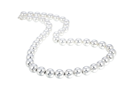 Sterling Silver Ball Necklace 10mm
