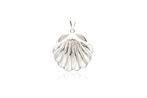 Mexican Silver Shell Pendant
