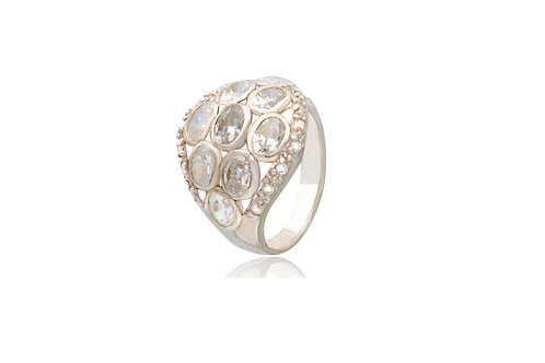 Sterling Silver Cubic Zirconia White Ring