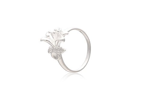 Sterling Silver Lily Flower Ring