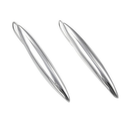 Long Marquise Mexican Silver Earrings