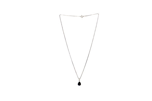 Sterling Silver Loyal Blue Sapphire Pendant with chain