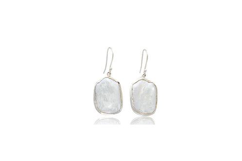 Sterling Silver Keshi Pearl Earrings