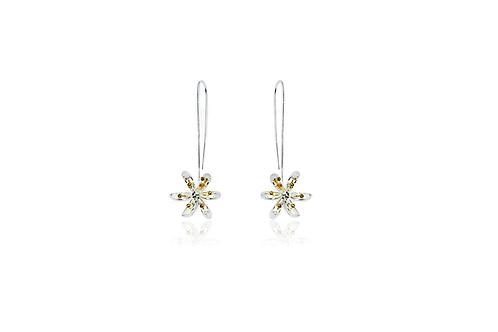Pretty Flower Long Drop Earrings