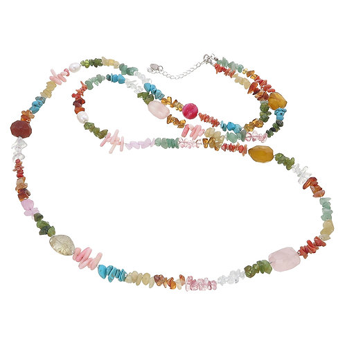Pastel Colour Long Necklace