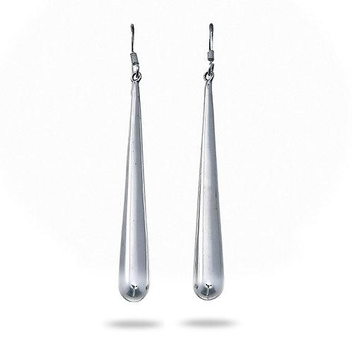 Silver Long Teardrop Earrings