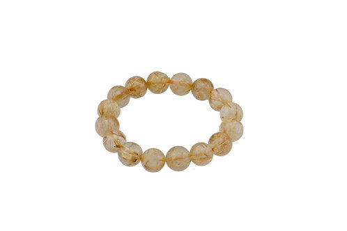 Rutilated Quartz Ball Bracelets