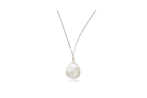 18K White Gold White South Sea Pearl Necklace
