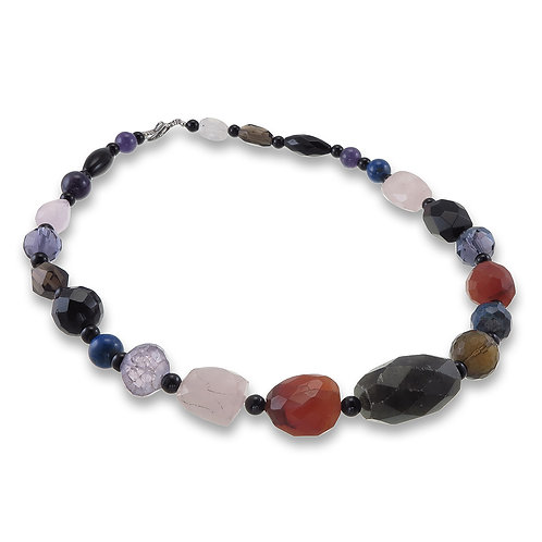 Handmade Natural Stone Necklace (short)