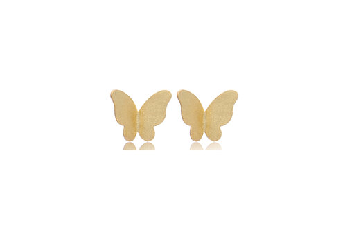 Sterling Silver Gold Plated Butterfly Stud Earrings