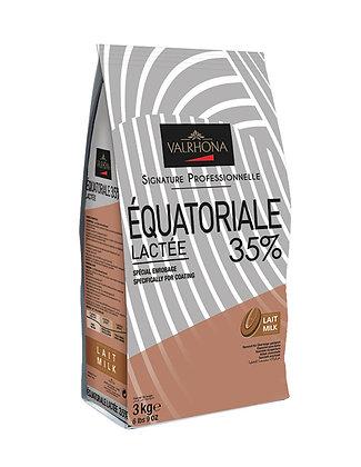 Equatoriale Lactee 35% - Chocolate de cobertura con leche