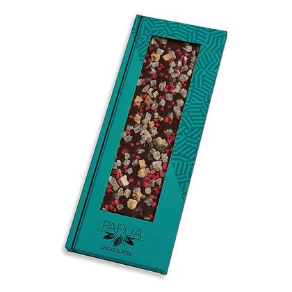 Chocolate 70% con Manzana, Pera, Gengibre y Rosas