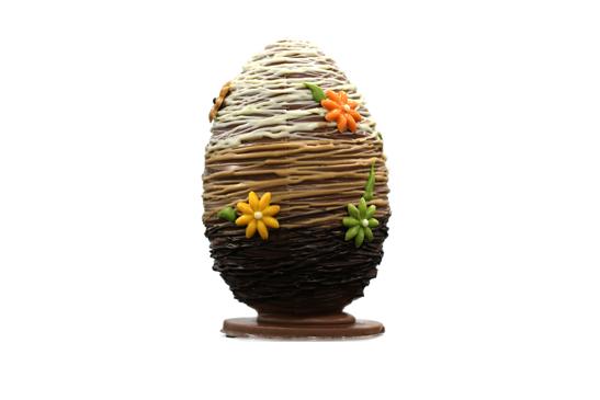 Huevo Rayado de 3 chocolates