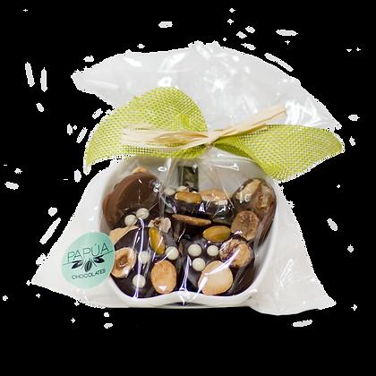 Músicos de chocolate en porcelana