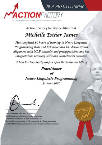 Certified NLP Practitioner