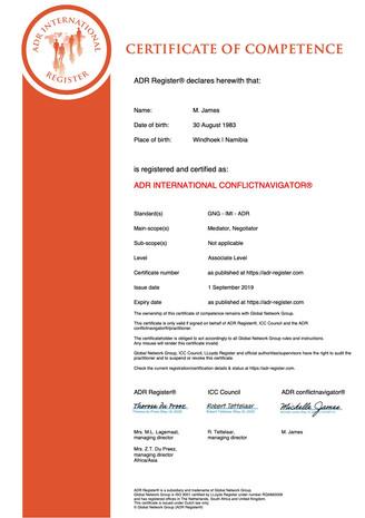 Certified ADR Mediator / Arbitrator