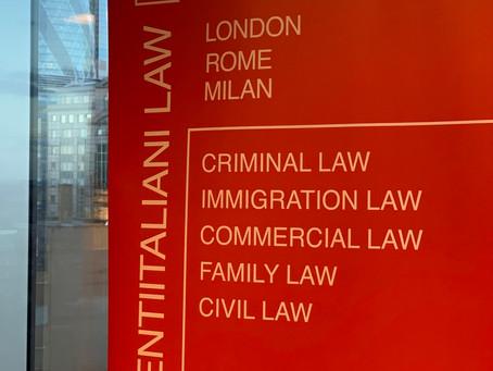 Studio legale italiano a Londra specializzato in diritto penale.