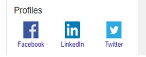 #facebook; #twitter; #LinkedIn