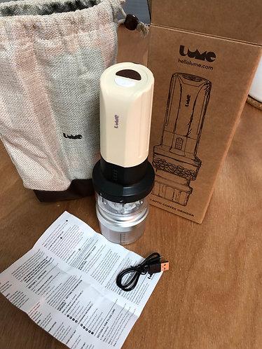 Lume battery operated ceramic burr grinder