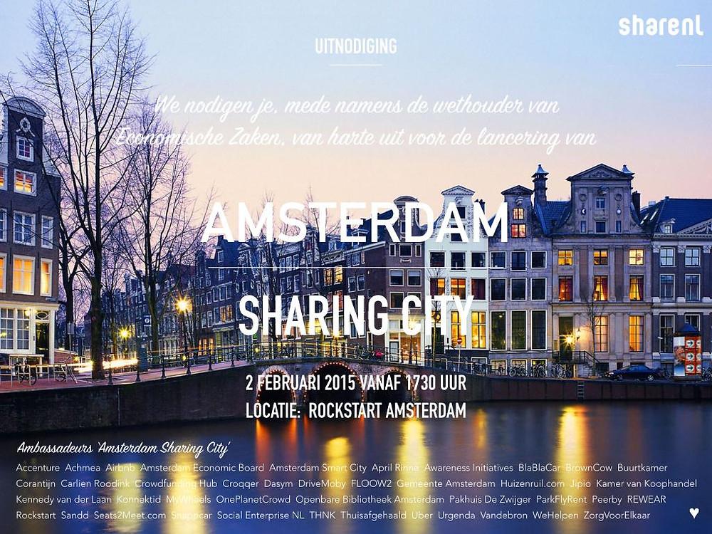 Amsterdam Sharing City Uitnodiging