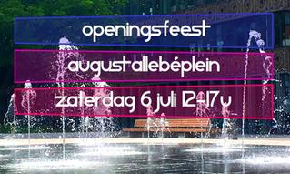 Openingsfeest August Allebéplein 6 juli