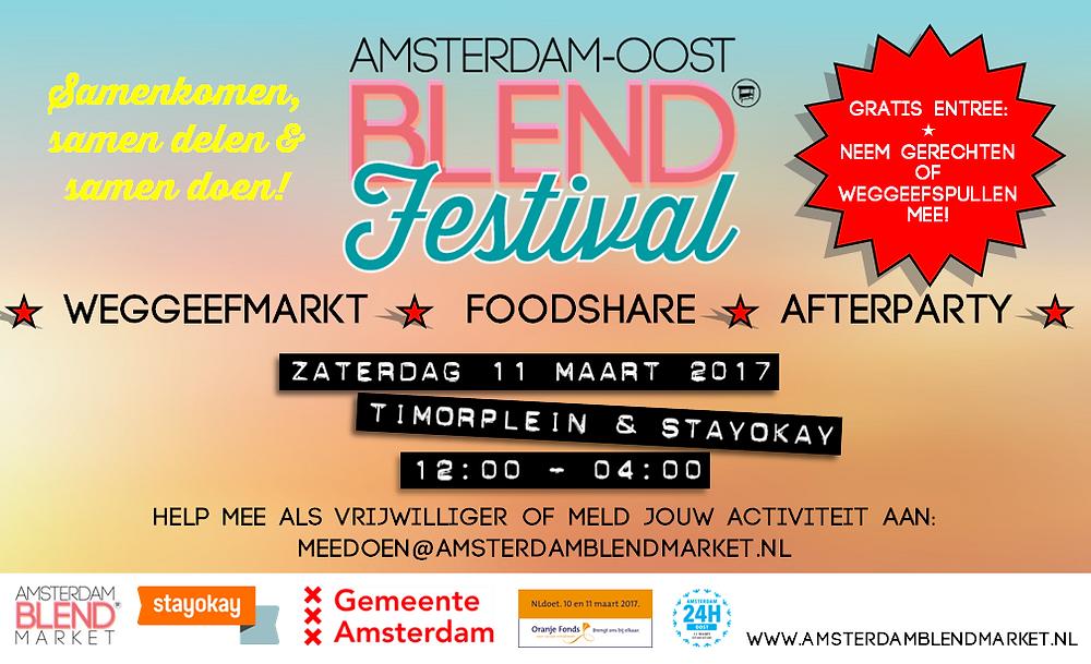 Flyer Amsterdam-Oost BLEND Festival