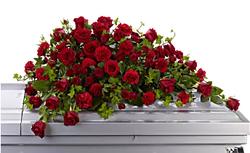 Red Rose Reverence Casket Spray 249.95