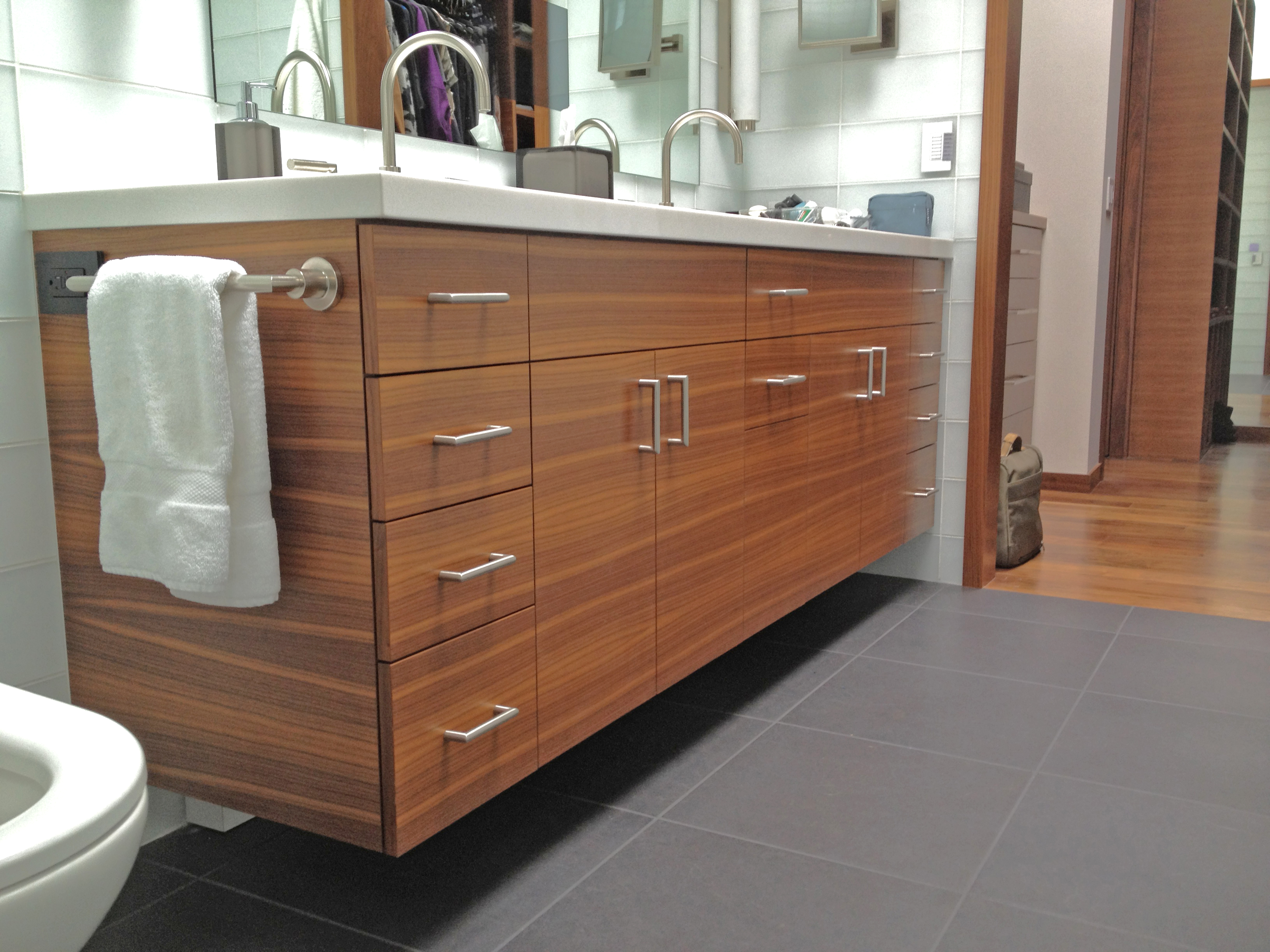 Walnut Bathroom Vanity: Woodside