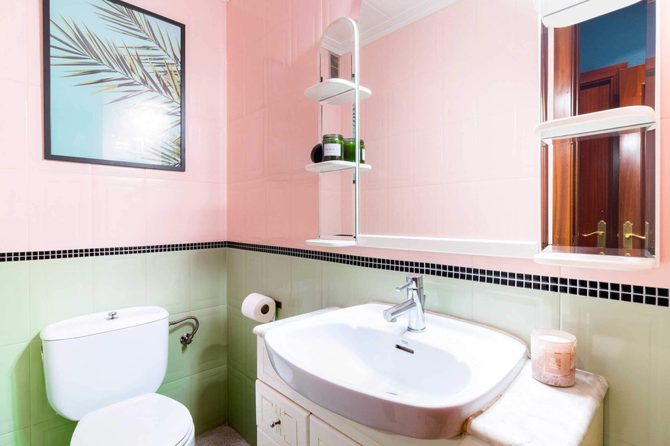 Staging of bathroom for quick sale without reforms