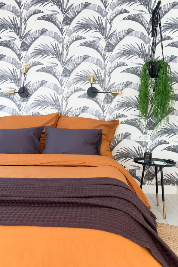Mur décoré avec papier peint Jumana de papelesdelos70
