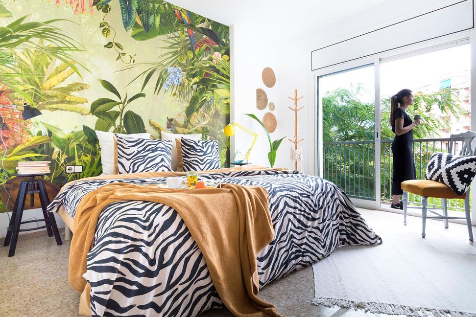 Original habitacion principal estilo jungle diseñada por Sebastien Robert