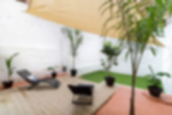 Terraza chill out después de revalorizar con home staging