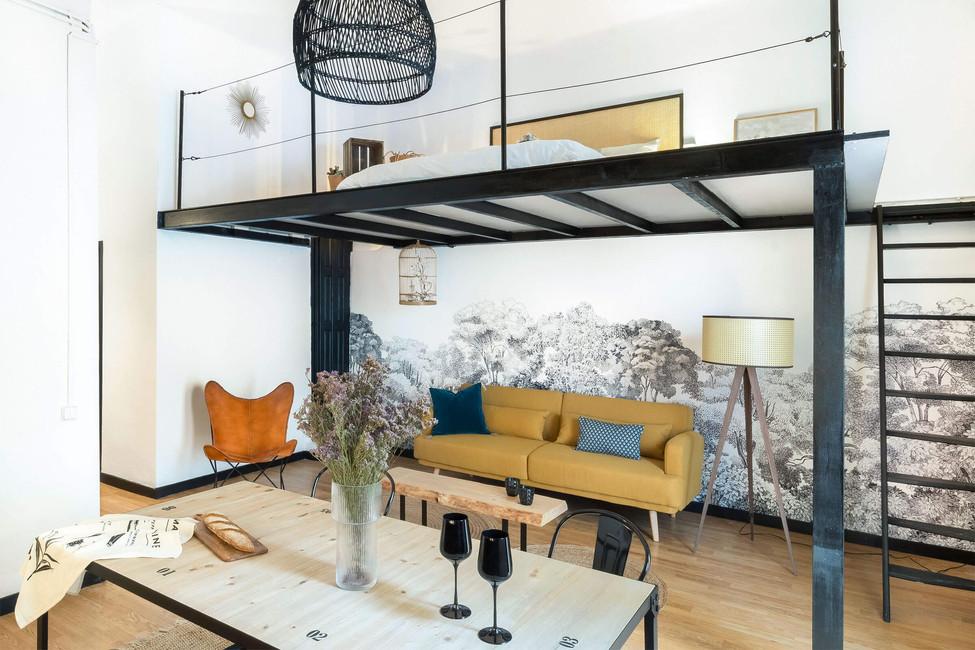 Dormitorio exclusivo en altillo para comprar en Barcelona