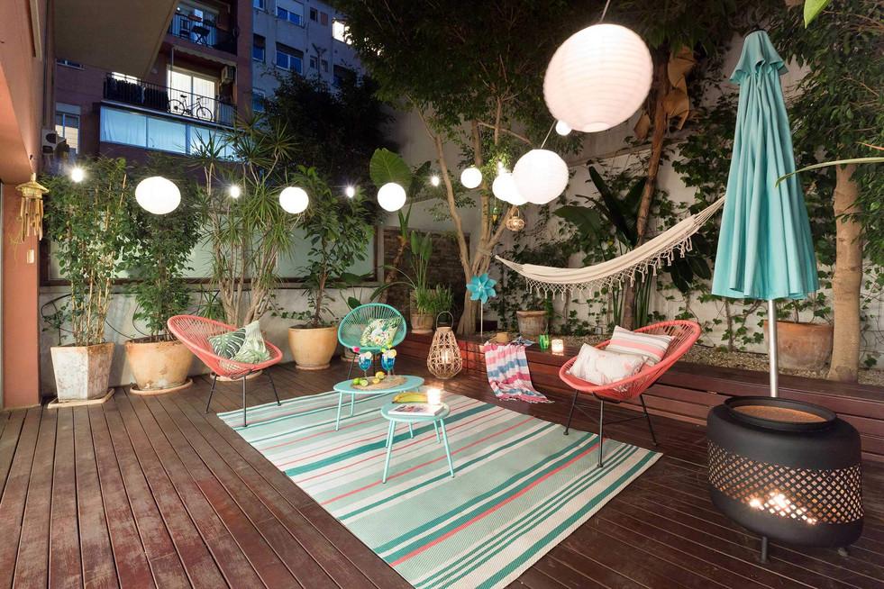 Proyecto de iluminacion de noche para terraza en Barcelona