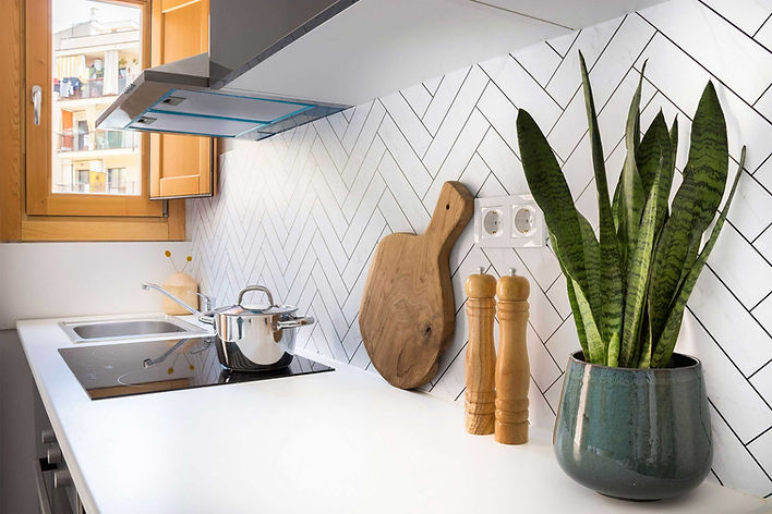 Gorgeous Lokoloko herringbone marble effect wall sticker