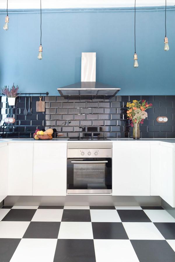 Azulejos de cocina tipo metro diseñada por Sebastien Robert