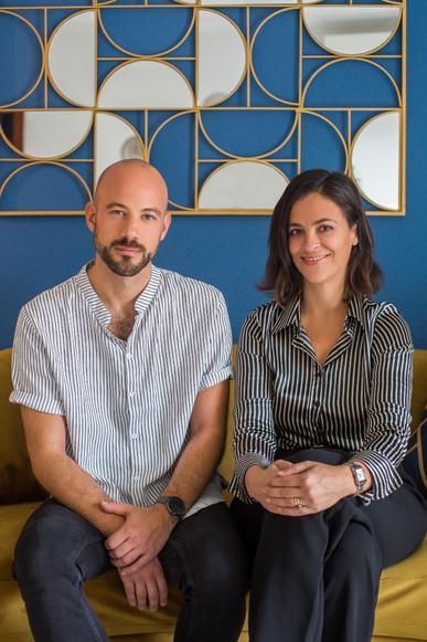 Sébastien Robert et Iris Prida fondateurs de l'agence immobilière