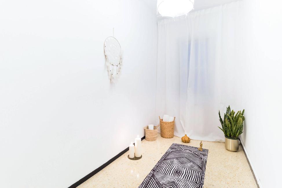 Espacio diseñado por Sebastien Robert para yoga