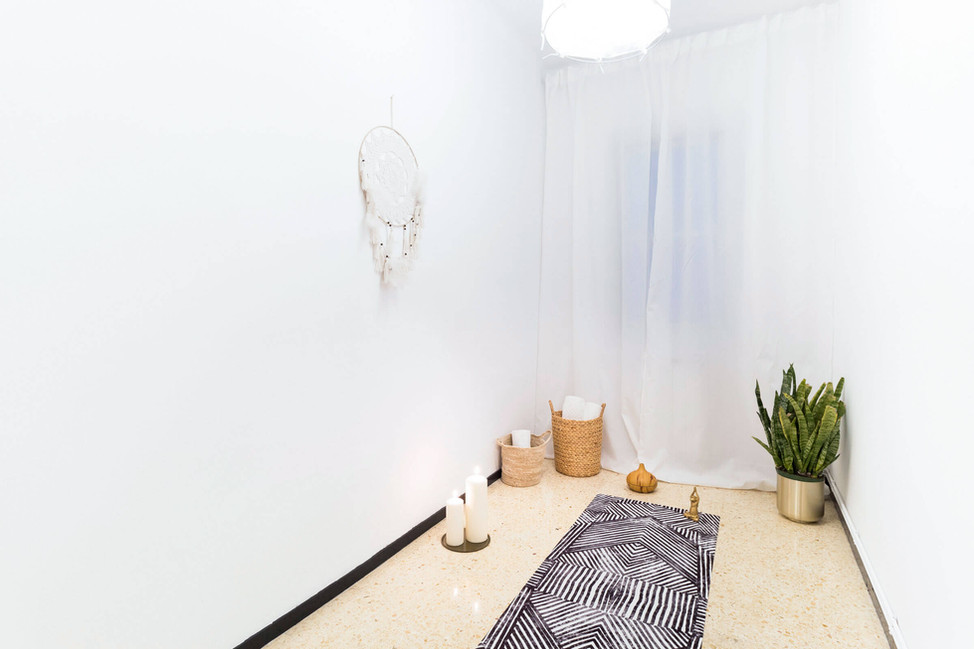 Space designed by Sebastien Robert for yoga