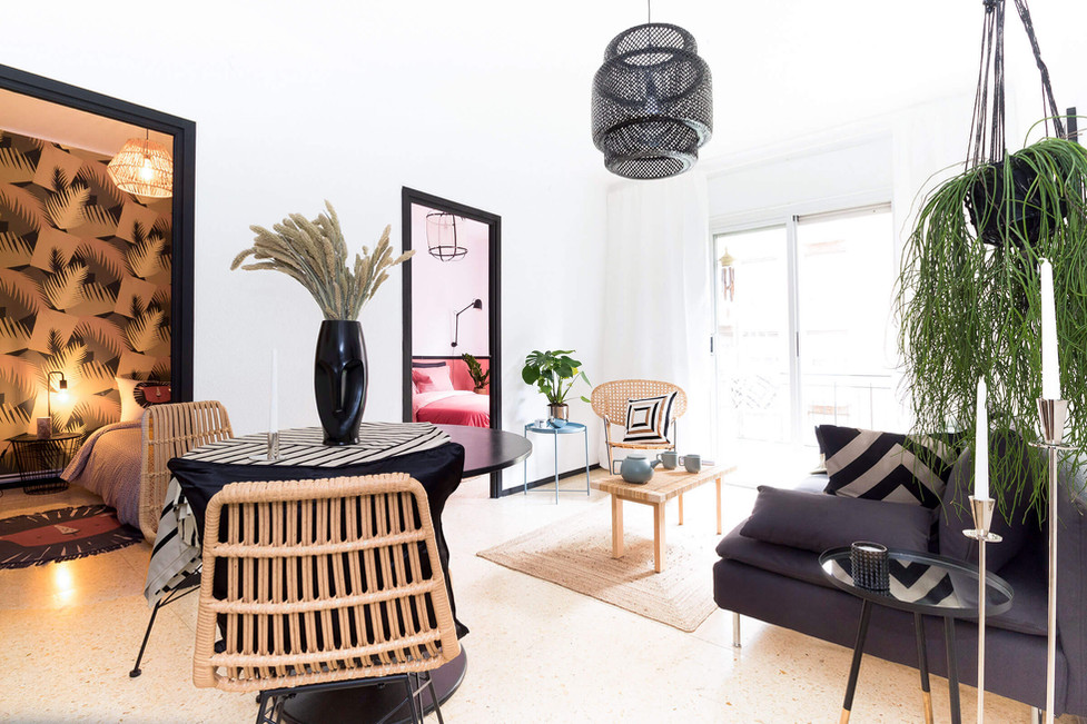 The best living room after home staging decorated by Sebastien Robert