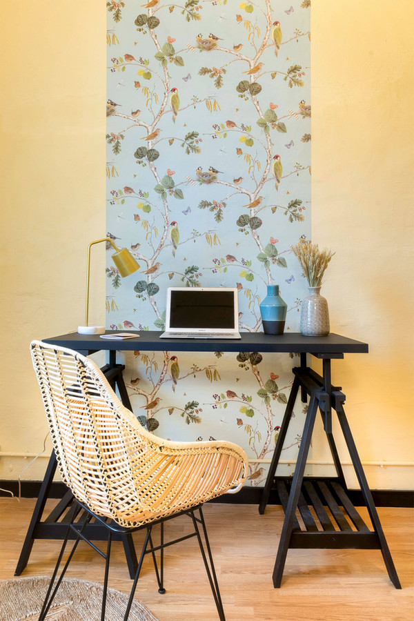 Study decorated with Merle wallpaper from papeldelos70