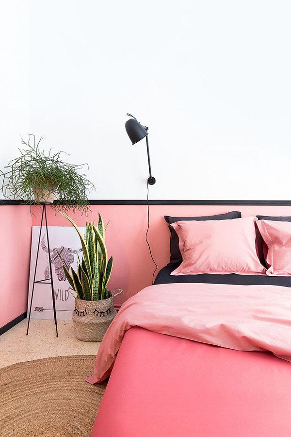 Tête de lit original à moindre coût fabriqué par Sébastien Robert